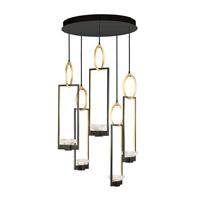 Fine Art Lamps 893040-3ST Delphi LED 27 inch Black Pendant Ceiling Light