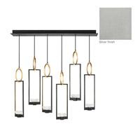 Fine Art Lamps 893140-1ST Delphi LED 48 inch Silver Pendant Ceiling Light