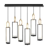 Fine Art Lamps 893140-3ST Delphi LED 48 inch Black Pendant Ceiling Light