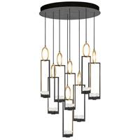 Fine Art Lamps 893240-3ST Delphi LED 34 inch Black Pendant Ceiling Light