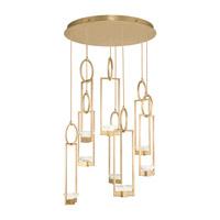 Fine Art Lamps 893240-2ST Delphi LED 34 inch Gold Pendant Ceiling Light