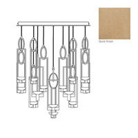 Delphi LED 46 inch Gold Pendant Ceiling Light