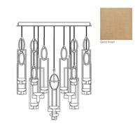 Fine Art Lamps 893440-2ST Delphi LED 46 inch Gold Pendant Ceiling Light
