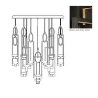 Fine Art Lamps 893440-3ST Delphi LED 46 inch Black Pendant Ceiling Light