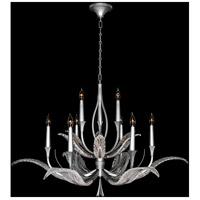 Fine Art Lamps 893640-1ST Plume 9 Light 45 inch Silver Chandelier Ceiling Light