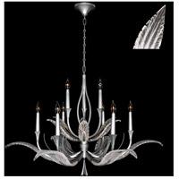 Fine Art Lamps 893640-11ST Plume 9 Light 45 inch Silver Chandelier Ceiling Light
