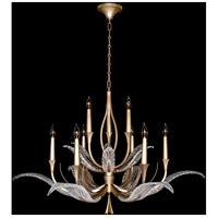 Fine Art Lamps 893640-2ST Plume 9 Light 45 inch Gold Chandelier Ceiling Light