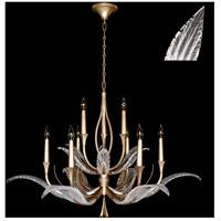 Fine Art Lamps 893640-21ST Plume 9 Light 45 inch Gold Chandelier Ceiling Light