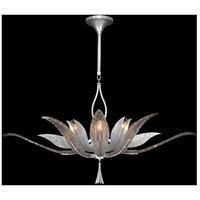 Fine Art Lamps 893740-1ST Plume 8 Light 40 inch Silver Pendant Ceiling Light