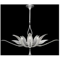 Fine Art Lamps 893740-11ST Plume 8 Light 40 inch Silver Pendant Ceiling Light