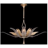 Fine Art Lamps 893740-2ST Plume 8 Light 40 inch Gold Pendant Ceiling Light