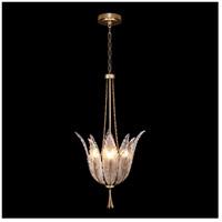 Fine Art Lamps 893940-2ST Plume 4 Light 18 inch Gold Pendant Ceiling Light
