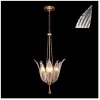 Fine Art Lamps 893940-21ST Plume 4 Light 18 inch Gold Pendant Ceiling Light