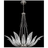 Fine Art Lamps 894040-11ST Plume 8 Light 39 inch Silver Pendant Ceiling Light