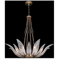 Fine Art Lamps 894040-2ST Plume 8 Light 39 inch Gold Pendant Ceiling Light