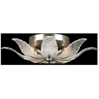 Fine Art Lamps 894140-1ST Plume 4 Light 28 inch Silver Flush Mount Ceiling Light