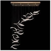 Fine Art Lamps 894840-211ST Elevate 8 Light 54 inch Gold Leaf Pendant Ceiling Light