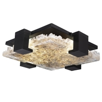 Fine Art Lamps 895440-12ST Terra 4 Light 17 inch Black Flush Mount Ceiling Light