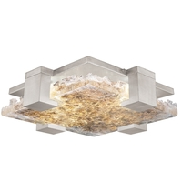 Fine Art Lamps 895440-22ST Terra 4 Light 17 inch Silver Flush Mount Ceiling Light