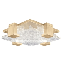 Fine Art Lamps 895440-31ST Terra 4 Light 17 inch Gold Flush Mount Ceiling Light