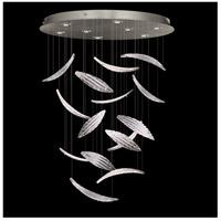 Fine Art Lamps 895840-122ST Elevate 8 Light 32 inch Silver Leaf Pendant Ceiling Light