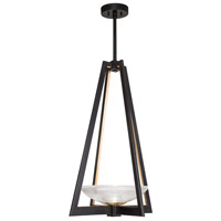 Fine Art Lamps 896040-3ST Delphi LED 18 inch Black Pendant Ceiling Light