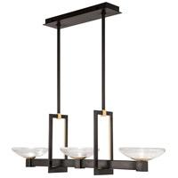 Fine Art Lamps 897040-3ST Delphi LED 48 inch Black Pendant Ceiling Light