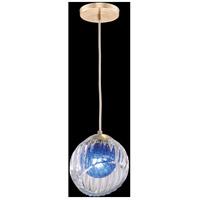Fine Art Lamps 897440-2CO Nest 1 Light 8 inch Gold Pendant Ceiling Light