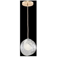 Fine Art Lamps 897440-2WH Nest 1 Light 8 inch Gold Pendant Ceiling Light
