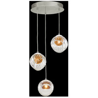 Fine Art Lamps 897540-1AB Nest 3 Light 20 inch Silver Pendant Ceiling Light