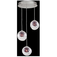 Fine Art Lamps 897540-1AM Nest 3 Light 20 inch Silver Pendant Ceiling Light