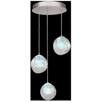 Fine Art Lamps 897540-1AQ Nest 3 Light 20 inch Silver Pendant Ceiling Light