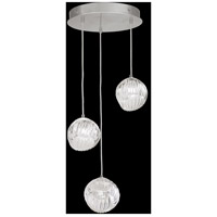 Fine Art Lamps 897540-1CL Nest 3 Light 20 inch Silver Pendant Ceiling Light