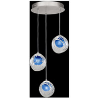 Fine Art Lamps 897540-1CO Nest 3 Light 20 inch Silver Pendant Ceiling Light