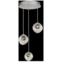 Fine Art Lamps 897540-1FG Nest 3 Light 20 inch Silver Pendant Ceiling Light