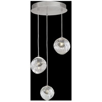 Fine Art Lamps 897540-1SQ Nest 3 Light 20 inch Silver Pendant Ceiling Light
