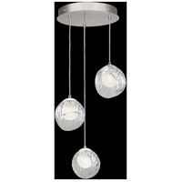 Fine Art Lamps 897540-1WH Nest 3 Light 20 inch Silver Pendant Ceiling Light