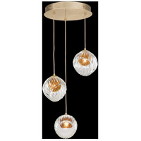 Fine Art Lamps 897540-2AB Nest 3 Light 20 inch Gold Pendant Ceiling Light