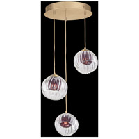 Fine Art Lamps 897540-2AM Nest 3 Light 20 inch Gold Pendant Ceiling Light