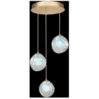 Fine Art Lamps 897540-2AQ Nest 3 Light 20 inch Gold Pendant Ceiling Light