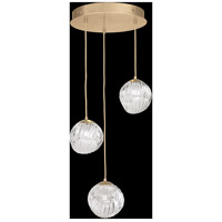 Fine Art Lamps 897540-2CL Nest 3 Light 20 inch Gold Pendant Ceiling Light
