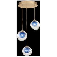 Fine Art Lamps 897540-2CO Nest 3 Light 20 inch Gold Pendant Ceiling Light