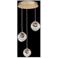 Fine Art Lamps 897540-2FG Nest 3 Light 20 inch Gold Pendant Ceiling Light