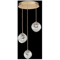 Fine Art Lamps 897540-2SQ Nest 3 Light 20 inch Gold Pendant Ceiling Light