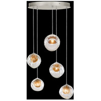 Fine Art Lamps 897640-1AB Nest 5 Light 28 inch Silver Pendant Ceiling Light