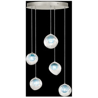 Fine Art Lamps 897640-1AQ Nest 5 Light 28 inch Silver Pendant Ceiling Light