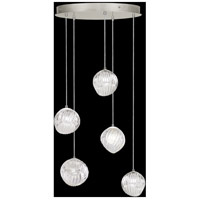Fine Art Lamps 897640-1CL Nest 5 Light 28 inch Silver Pendant Ceiling Light