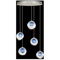 Fine Art Lamps 897640-1CO Nest 5 Light 28 inch Silver Pendant Ceiling Light