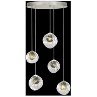 Fine Art Lamps 897640-1FG Nest 5 Light 28 inch Silver Pendant Ceiling Light