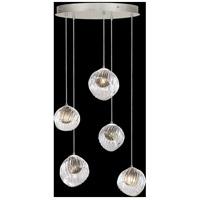 Fine Art Lamps 897640-1SQ Nest 5 Light 28 inch Silver Pendant Ceiling Light